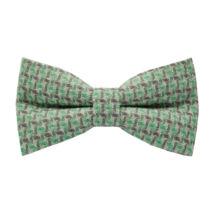 Fehérforgós-zöld kockás csokornyakkendő