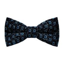Kék-barna négyzetek vintázs (vintage) csokornyakkendő
