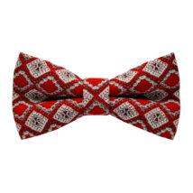 Piros rombuszok vintázs (vintage) csokornyakkendő