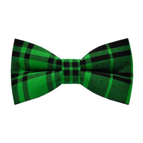 Zöld-fekete kockás csokornyakkendő