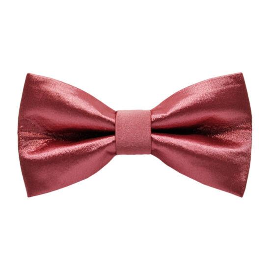 Poros rózsaszín fényes csokornyakkendő