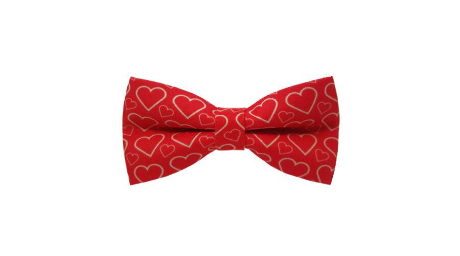 bbac8ee131 Piros szíves mintás (2) csokornyakkendő 4.303 Ft áron